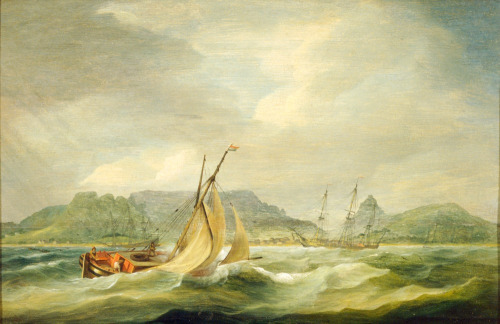 Table Bay in the 1790s Thomas Luny (1759-1837)